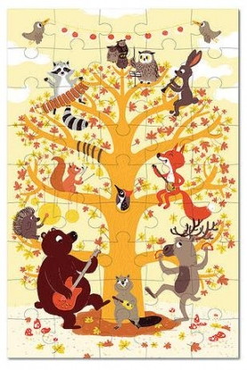 Krooom Παζλ  ορχήστρα ζωάκια δάσους   d21caccb06e